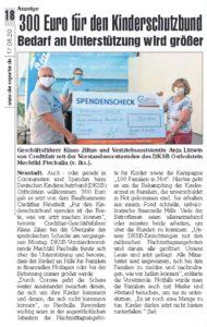 300 Euro für den Kinderschutzbund